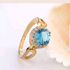 Jewelry - 💍Preview💍18K Gold Filled Aquamarine Ring